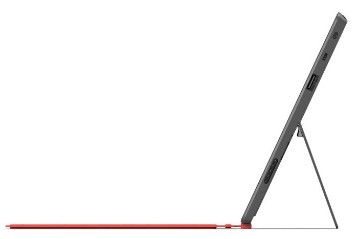 A side view rendering of the Microsoft Surface.