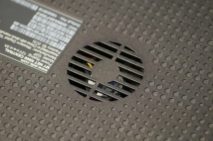 The vent at the bottom of the My Net Central N900 router.