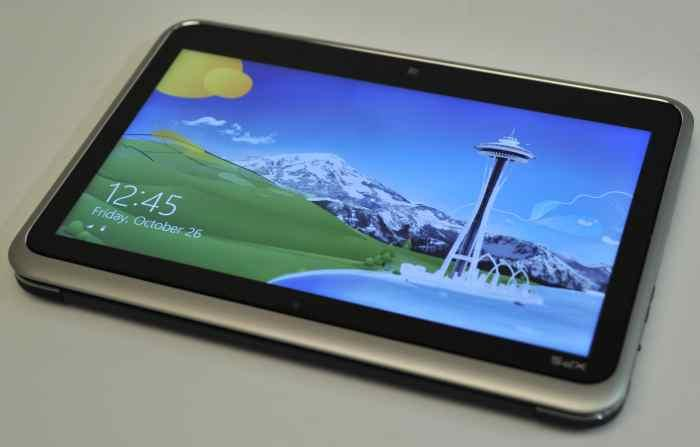 The XPS 12 in tablet mode.