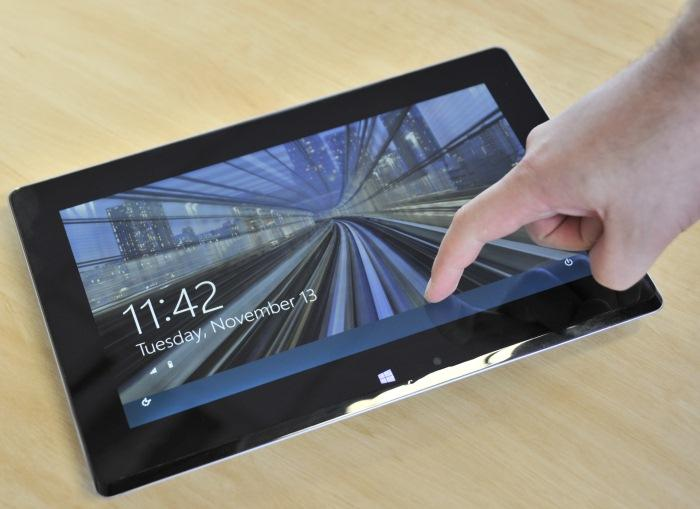 The Taichi 21 in tablet mode.
