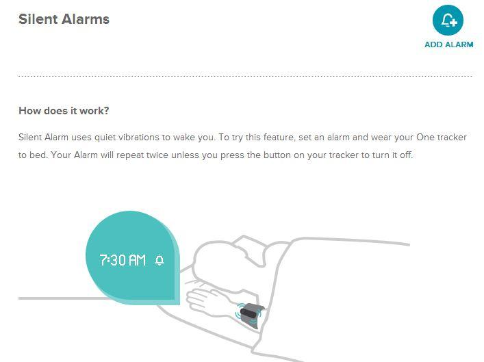 Annoyingly, you can only set a silent alarm through the Fitbit.com Web site by accessing the account settings page.