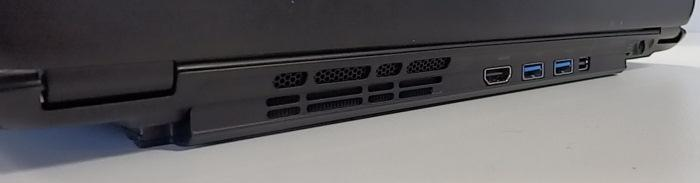 When the MagicFlip is extended, it allows you to use the laptop's port cluster and also gives the base a little more room for ventilation.