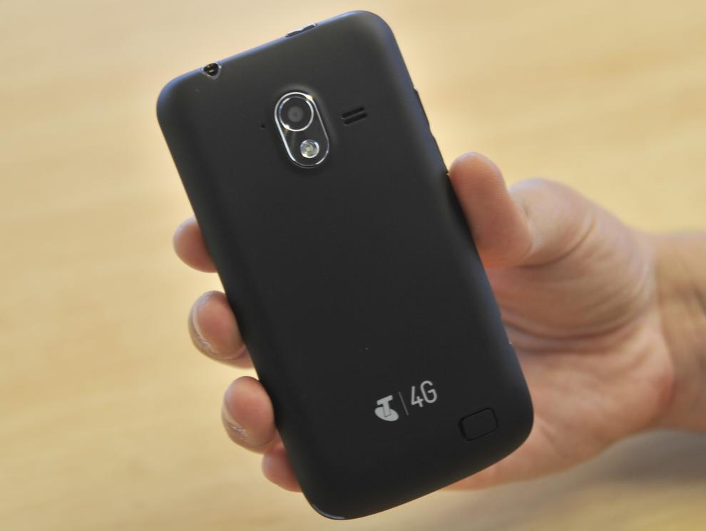 The back of the Frontier 4G has a soft-touch plastic that makes it relatively comfortable to hold.