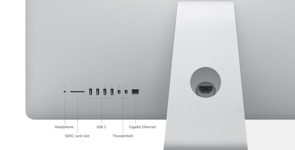 The SD card slot has been moved to the back of the new iMac, which is an annoyance if you use it often.