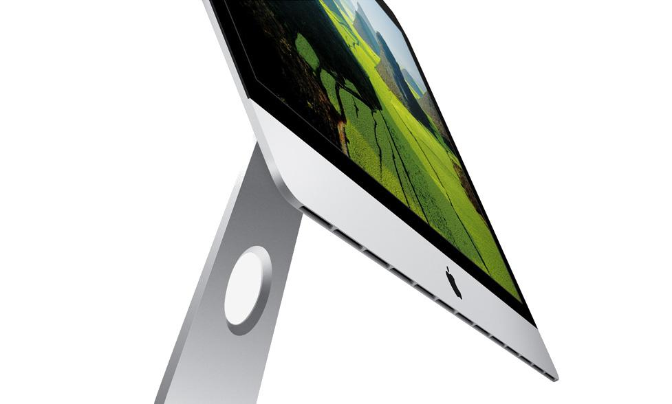 The iMac is an impressive 5mm thin but that's only on the direct edges.