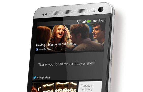 The HTC One has a redesigned home screen that the company calls 'BlinkFeed'.