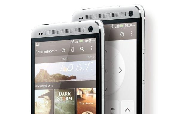 The HTC One includes a built-in IR sensor, which allows it to act as a universal remote control.