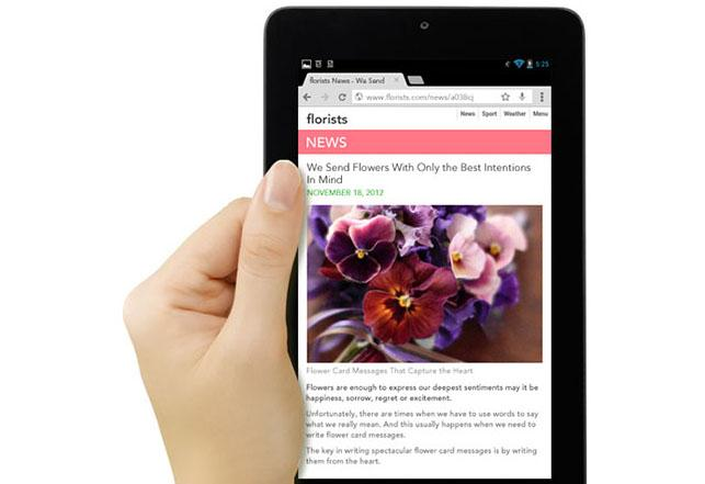 The MeMO Pad's 7in display has a resolution of 1024x600, less than the 1280x800 panel on the Nexus 7.