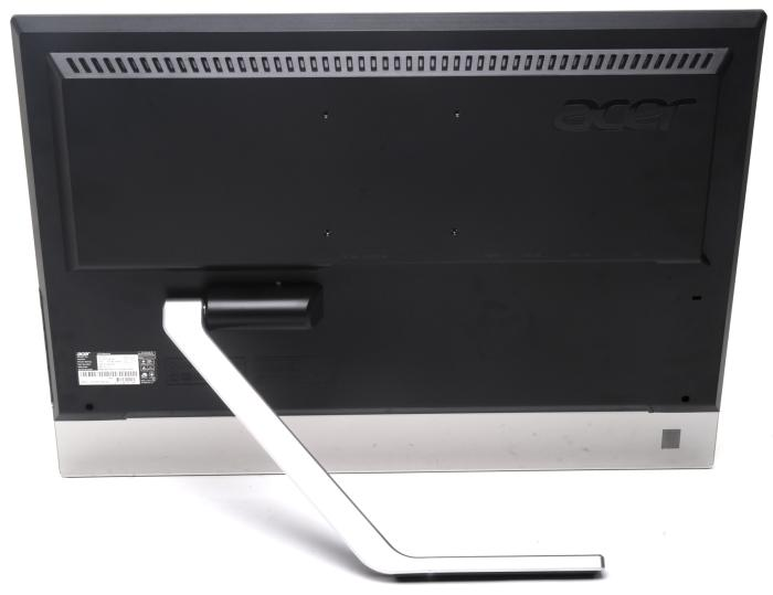 The rear arm allows the screen to be tilted very easily.