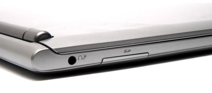 The SD card slot is on the left side.