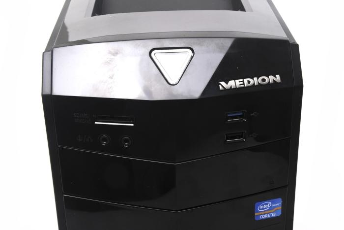 The angled look of the front panel is a nice change for Medion desktops.