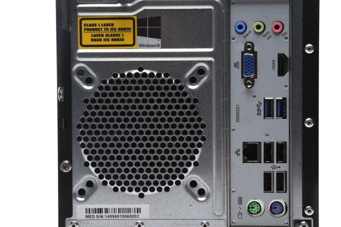 The rear port cluster.