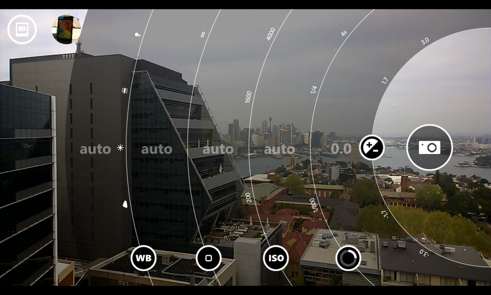 The Nokia Pro Cam app offers a range of manual controls and is pretty intuitive to use.