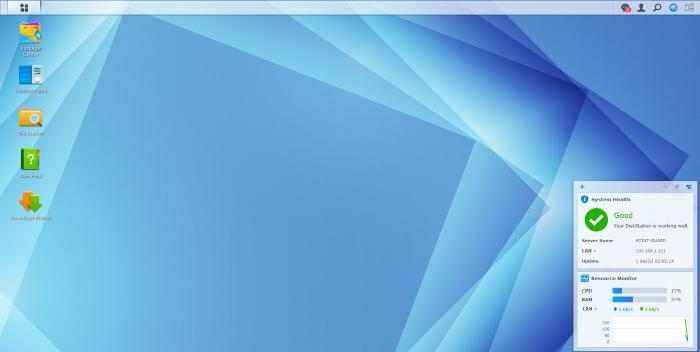 The main DSM 5.1 interface.
