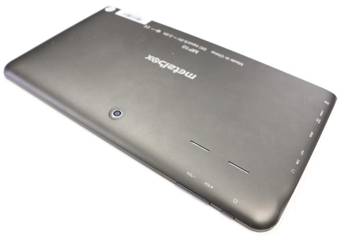 The rear of the unit has a 2-megapixel camera, while the top-right corner has power and volume buttons.