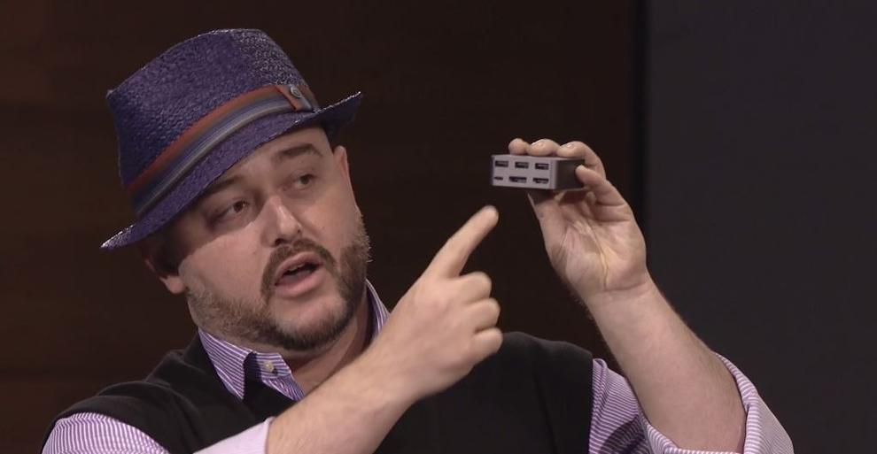 Bryan Roper showcasing the Microsoft Display Dock