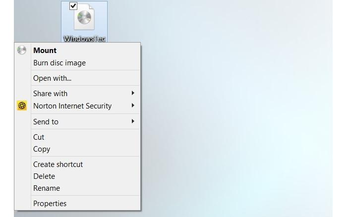 On a Windows 8.1 system, you should be able to just right-click the ISO file to mount it.