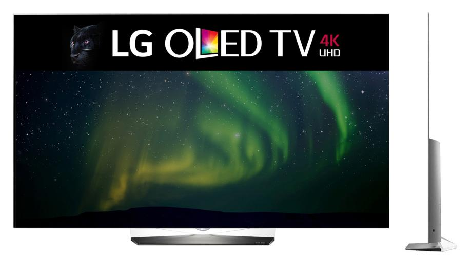 Looks gorgeous and is ridonculously thin. This is the base-level, B-Series 2016 OLED TV.