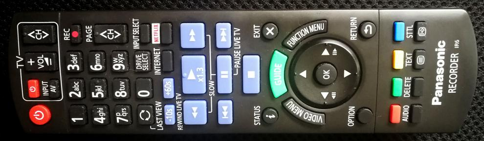 The remote has big buttons and is generally responsive... unless one of the many menus is particularly slow.