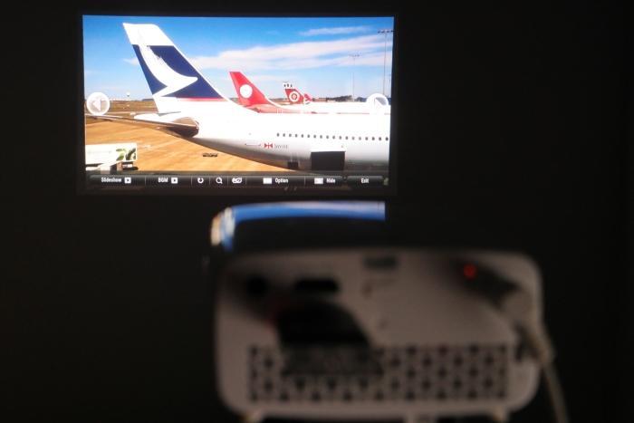 Viewing photos off a USB stick.