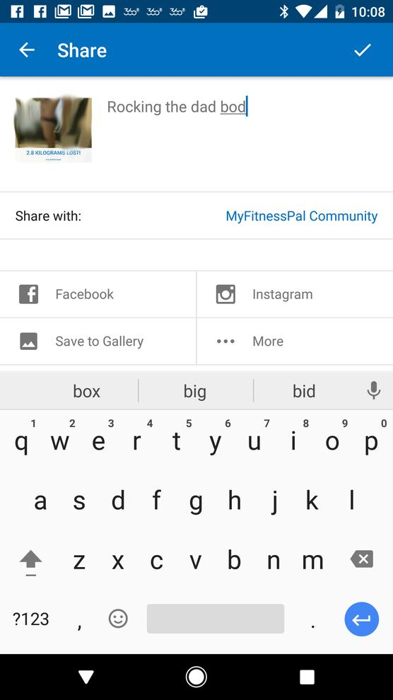 You can share as much or as little as you like on social media or with the MyFitnessPal community.