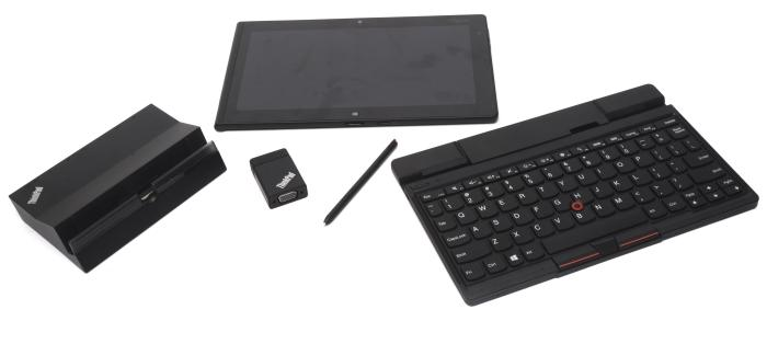The Tablet 2 has a range of optional accessories, including a dock, keyboard stand, and a VGA dongle.