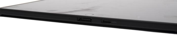 The bottom has the docking connector and the Mini HDMI port.