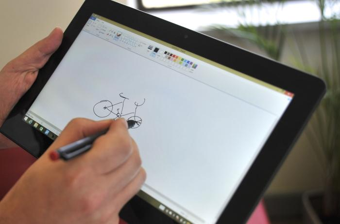 It's a fine tablet for writing and drawing (if you have a talent for it, of course).