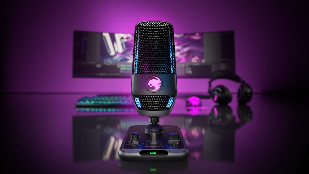 The Roccat Torch USB Microphone can be muted with a simple hand gesture.