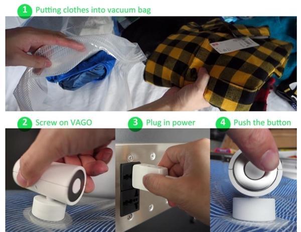 Vago. The portable sucking device.