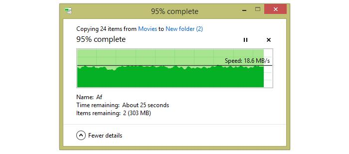 Transferring big files from the mid-range distance.