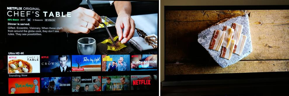 There's now heaps more Dolby Vision content on Netflix. While it's difficult to show in a single scene, it means whole programs/TV Shows/Movies will look better throughout their duration.