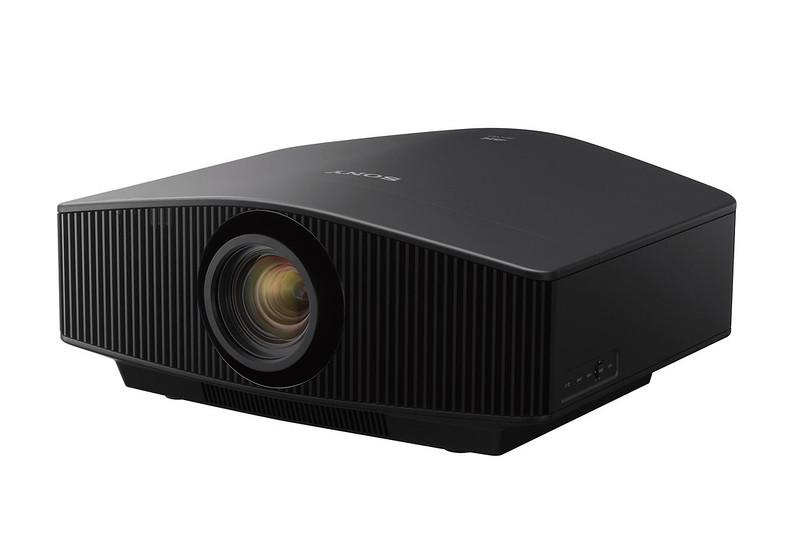 The new VPL-VW290ES 4K projector in black.