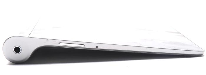 The cylinder gives the tablet a nice slant that comes in handy when typing on the screen.