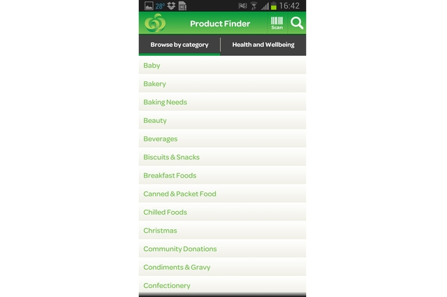 Woolworths shopping app