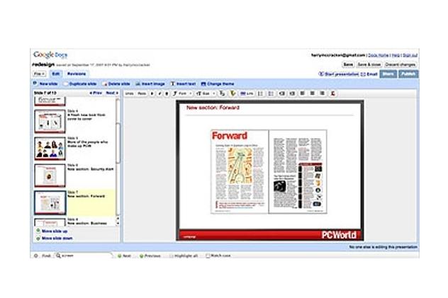 Google Docs, with Presentations