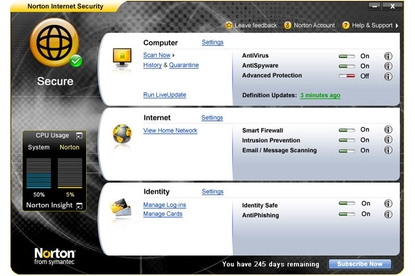 Symantec Norton Internet Security 2009
