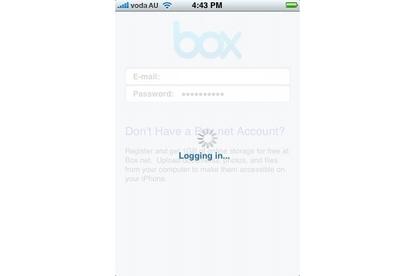 Box.net iPhone app