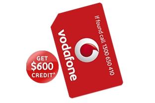 Vodafone SIM only Plan $54