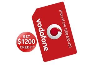 Vodafone SIM only Plan $109