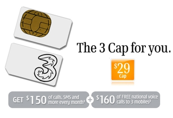 3 Mobile $29 SIM Only