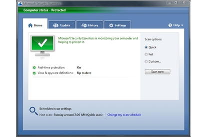 Microsoft Security Essentials Beta