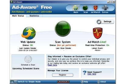 Lavasoft Ad-Aware Free 8.3